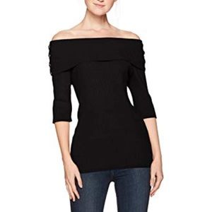 XOXO Juniors' Ribbed Off-The-Shoulder Sweater